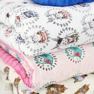 handmade pokoik dziecka bawełna kołderka minky wesołe zwierzaki