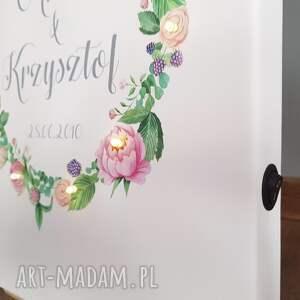 rocznicę pokoik dziecka świecący obraz z kwiatowym wiankiem - piękny