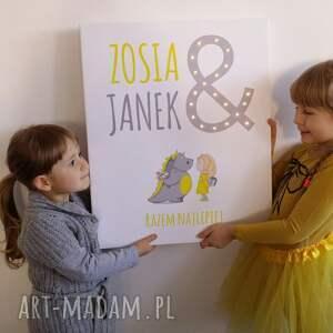 lampa pokoik dziecka obraz led pastelowy dla brata