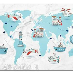 hand-made pokoik dziecka obraz xxl mapa świata 2 dla dzieci