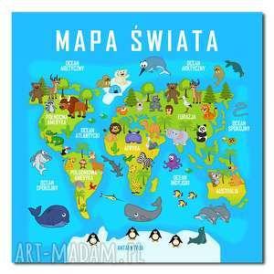 gustowne pokoik dziecka obraz xxl mapa świata 1 dla dzieci