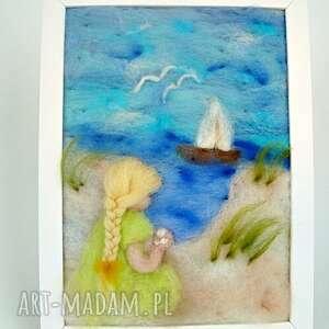 gustowne pokoik dziecka morze obraz. Wakacyjne wspomnienia. Obraz