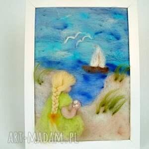 turkusowe pokoik dziecka morze obraz. Wakacyjne wspomnienia. Obraz