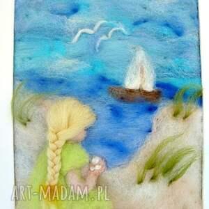 morze pokoik dziecka zielone obraz. Wakacyjne wspomnienia. Obraz