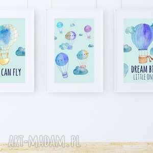 modne pokoik dziecka plakat obrazek balony blue