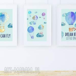 handmade pokoik dziecka plakat obrazek dream big blue