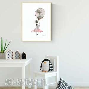 oryginalne pokoik dziecka obrazek-dziewczynka obrazek namalowany ręcznie 30 x 40