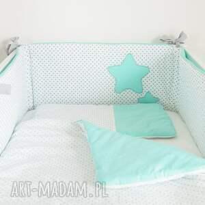 pokoik dziecka miętowyochraniacz ochraniacz do łóżeczka słodkie sny