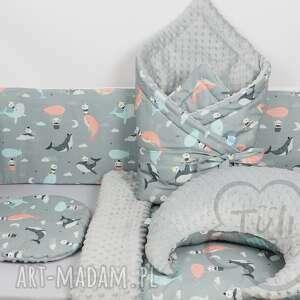szare pokoik dziecka ochraniacz do łóżeczka