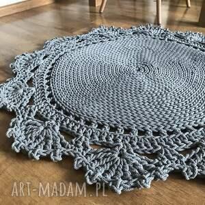 intrygujące pokoik dziecka dywanik okrągły dziergany dywan 70