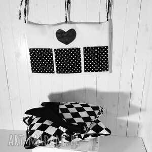 pokoik dziecka organizer na łóżeczko biało-czarny