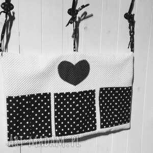 prezent pokoik dziecka organizer na łóżeczko biało-czarny