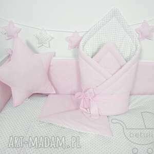 pościel pokoik dziecka różowe pastelowa dziecięca 100x135