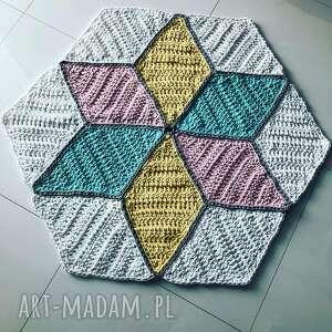 hand made pokoik dziecka dywan pastelowy 100cm