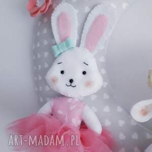 różowe pokoik dziecka dekoracja personalizowana