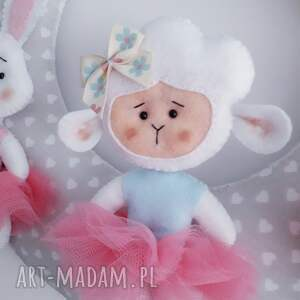 girlanda pokoik dziecka białe personalizowana, szyta