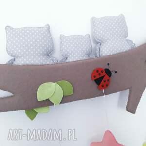MisOlki pokoik dziecka: Personalizowana dekoracja Sowia Rodzinka - Hand Made girlanda