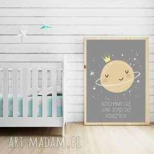 handmade pokoik dziecka księżyc plakat a3