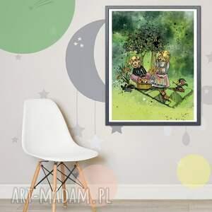 pokoik dziecka chłopiec plakat - niezwykły piknik