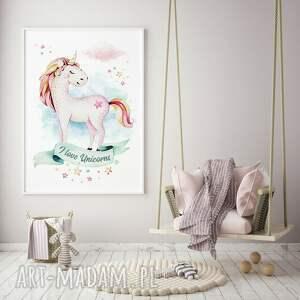 Hogstudio pokoik dziecka: Plakat obraz jednorożec 50x70 cm B2 - grafika