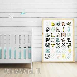 niepowtarzalne pokoik dziecka alfabet plakat pastelowy a3
