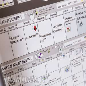 frapujące pokoik dziecka planer kalendarz miesięczny