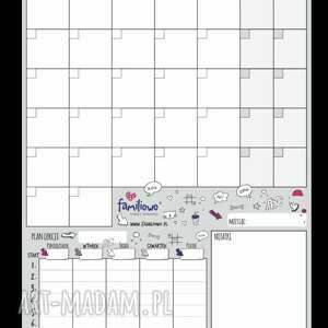 białe pokoik dziecka plan planer szkolny dla ucznia na ścianę
