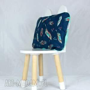 niebieskie pokoik dziecka płaska poduszka do łóżeczka pióra
