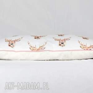 ręcznie zrobione pokoik dziecka poduszka płaska do łóżeczka jelenie