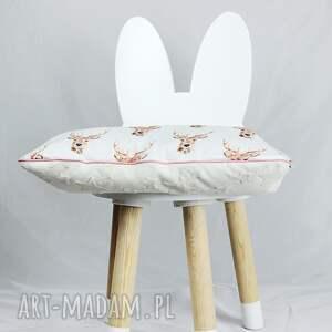 białe pokoik dziecka płaska poduszka do łóżeczka jelenie