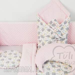 poduszka do wózka pokoik dziecka różowe płaska dla niemowlaka