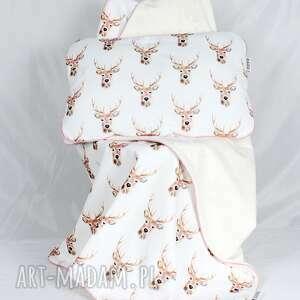 ręcznie zrobione pokoik dziecka dziecko płaska poduszka do łóżeczka jelenie