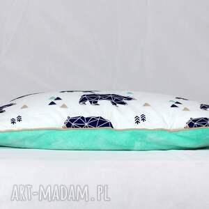 poduszka pokoik dziecka zielone płaska do łóżeczka