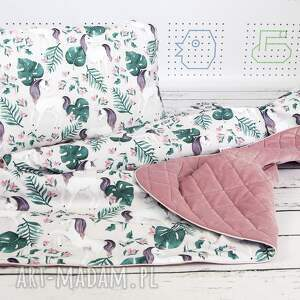 NuvaArt różowe pokoik dziecka wyprawka płaska poduszka do łóżeczka