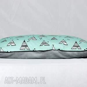szare pokoik dziecka płaska poduszka do łóżeczka tipi