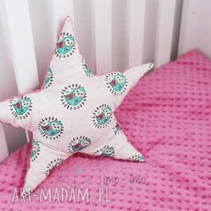 bawełna pokoik dziecka poduszka minky gwiazdka (niebieski