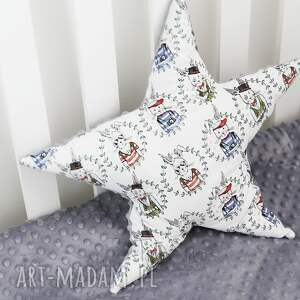 ciekawe pokoik dziecka bawełna poduszka minky gwiazdka (niebieski