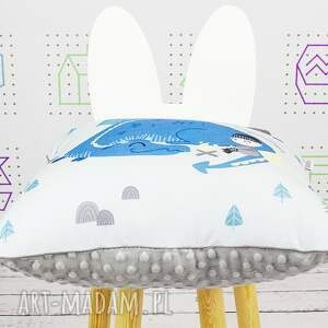 białe pokoik dziecka dekoracyjna poduszka chillout with dragon 46x46