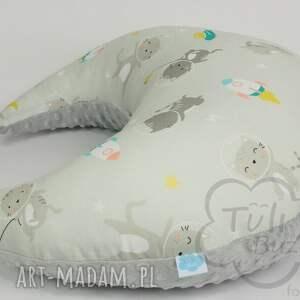 ręczne wykonanie pokoik dziecka poduszka do karmieni do karmienia rogal w kotki