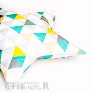 zielone pokoik dziecka gwiazdka poduszka - trójkąty