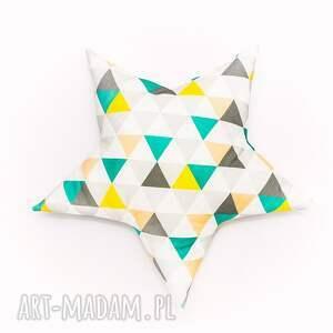 niekonwencjonalne pokoik dziecka poduszka gwiazdka - trójkąty