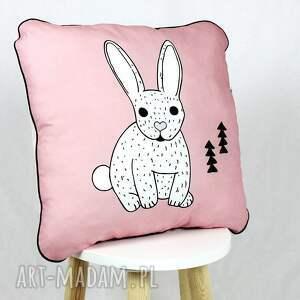 pokoik dziecka poduszka królik róż 46x46