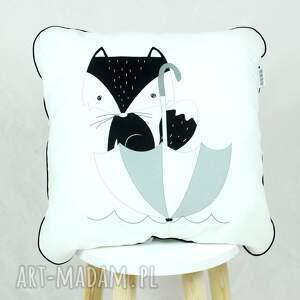 ręcznie robione pokoik dziecka poduszka lis deszczowy 46x46