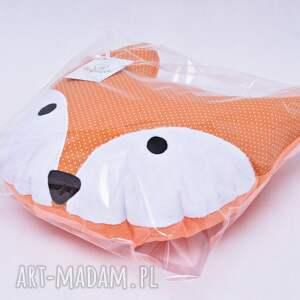 pokoik dziecka poduszka lisek uszyta z bawełny i minky