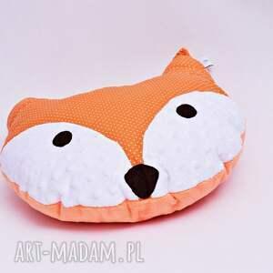 pomarańczowe pokoik dziecka poduszka lisek, z liskiem