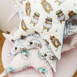 pokoik dziecka bawełna poduszka minky gwiazdka (niebieski