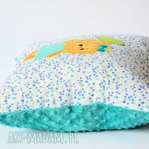 poduszka pokoik dziecka turkusowe - piesek z balonem
