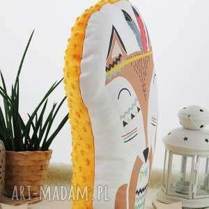 białe pokoik dziecka poduszka przytulanka, indiański