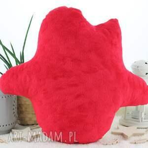 pokoik dziecka: Poduszka przytulanka, indiańska sówka, bawełna, czerwone minky sowa