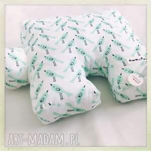 puzzel pokoik dziecka zielone poduszka ptaszki